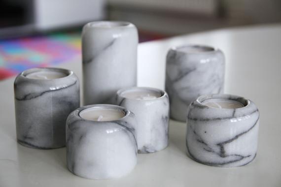 inspirera mera inspireramera marmor ljushållare ljuslyktor