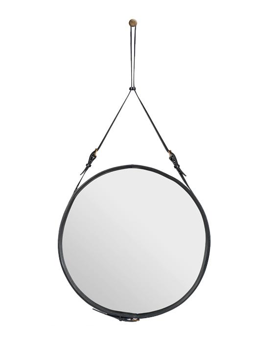 Spegel rund läder inspirera mera inspireramera inredning blogg adnet mirror