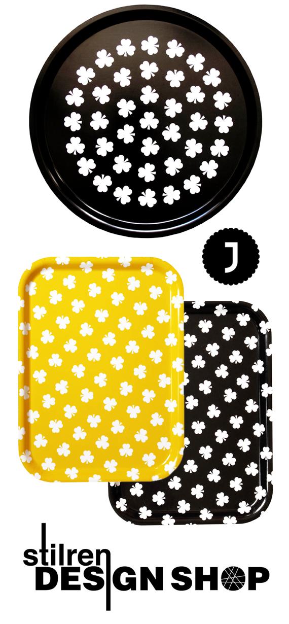inspirera mera stilren design shop grafiskt brickor klöver johannab johanna b