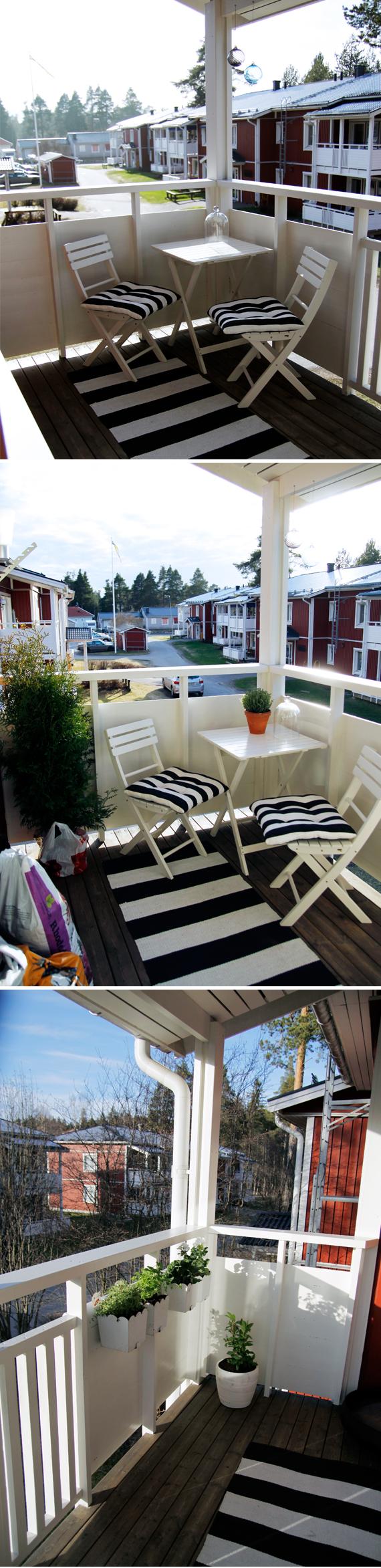 balkong inspirera mera inredning blogg inredningsblogg växter inspiration balkonginspiration pelagaron örter