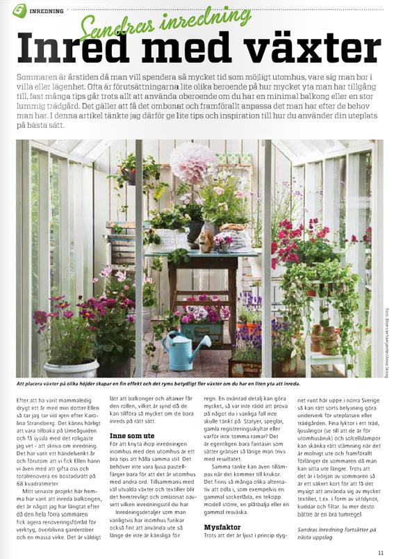 sandras inredning inred med växter tips artikel inredning inredningsblogg inspirera mera inspireramera