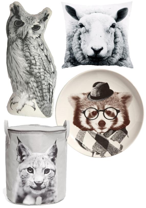 animal print djurprint djur trend inspirera mera natur får uggla lo tvättbjörn