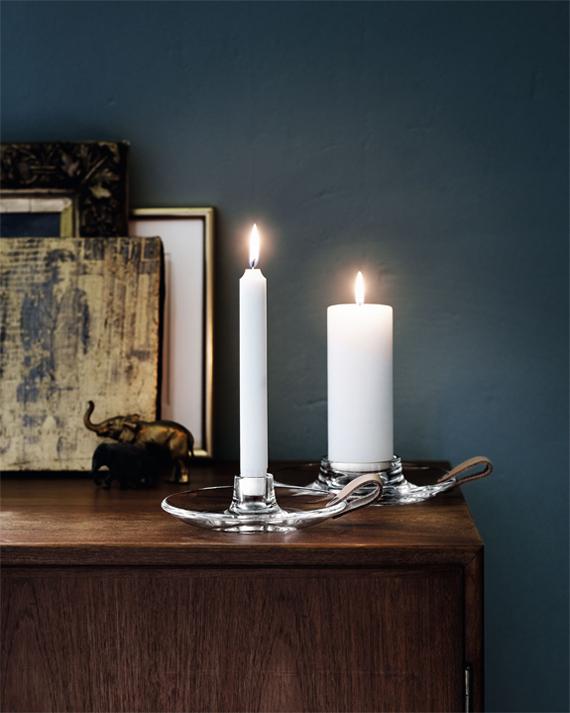 inspirera mera inspireramera inredning blogg inredningsblogg ljus glas läder sängkammarljusstake ljusstake