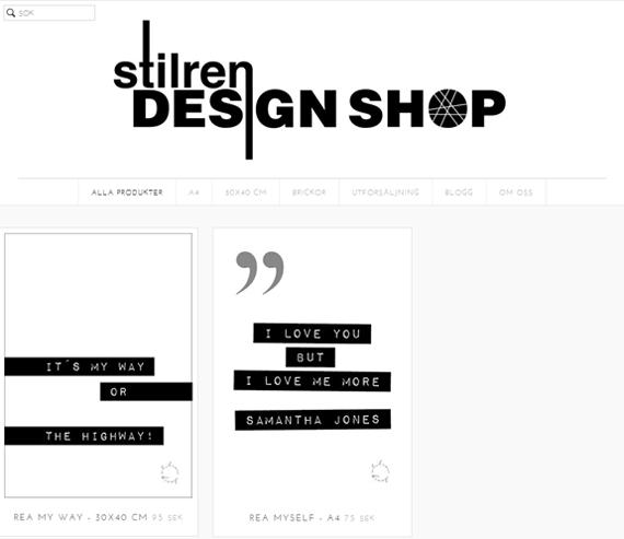 inspireramera inspirera mera stilren design blogg inredning utförsäljning tryck poster rea
