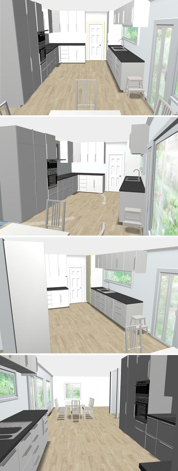 Kök skiss planering ikea köksplanering köksrenovering renovering inspirera mera hus husrenovering fönster avlångt köksfönster nytt